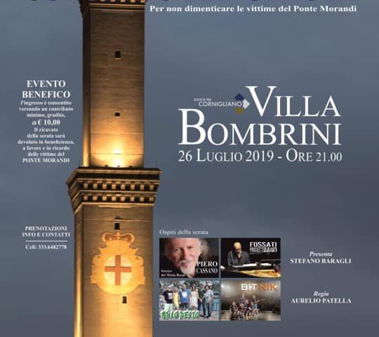 Il 26 Luglio 2019 lo spettacolo Concerto per Genova, per non dimenticare le vittime del Ponte Morandi.