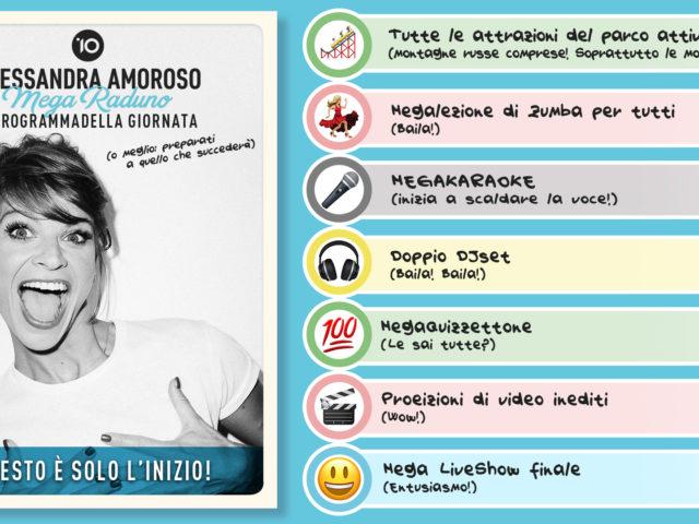 Sabato 20 Luglio a Cinecittà il raduno con/per Alessandra Amoroso