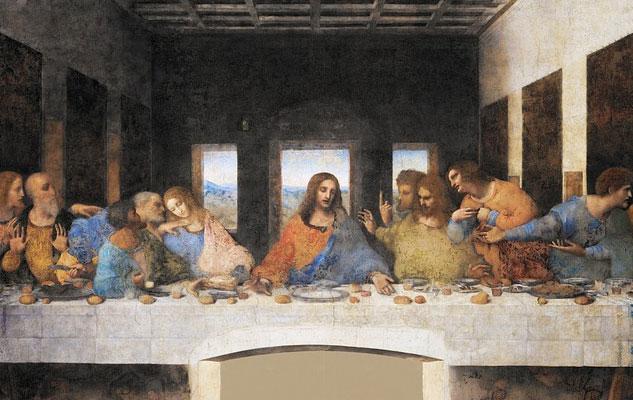 A Firenze le tavole dell'Ultima Cena di Leonardo da Vinci, inventore ma anche cantante, musicista, ideatore di strumenti musicali ..