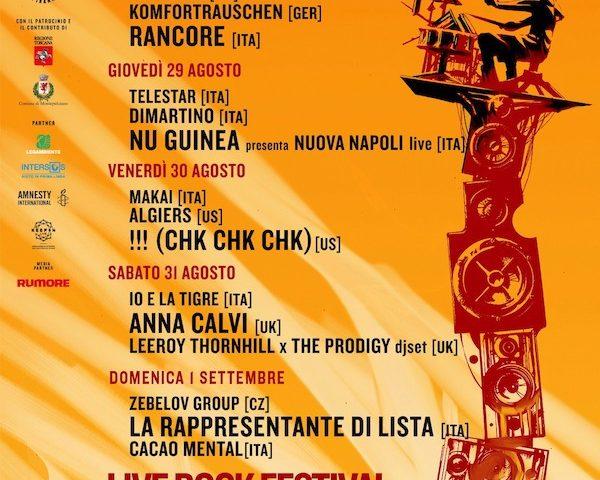 200 volontari del Collettivo Piranha da oggi al lavoro per il Live Rock Festival di Acquaviva (Siena)