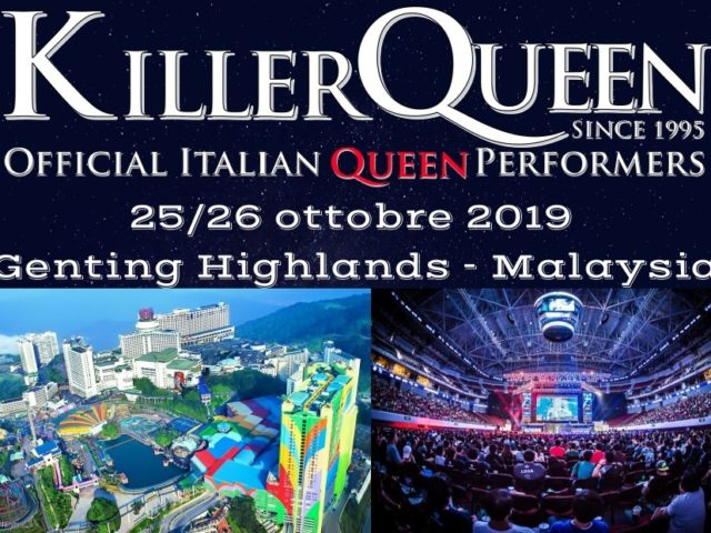 La tribute band fiorentina dei Killer Queen in concerto in Malesia