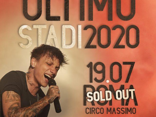 Per Ultimo, sold out anche la data al Circo Massimo di Roma di Domenica 19 Luglio 2020