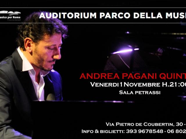 Andrea Pagani presenta Blue in quintetto all'Auditorium Parco della Musica di Roma