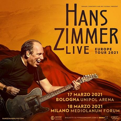 Hanz Zimmer in Italia per due concerti a marzo 2021