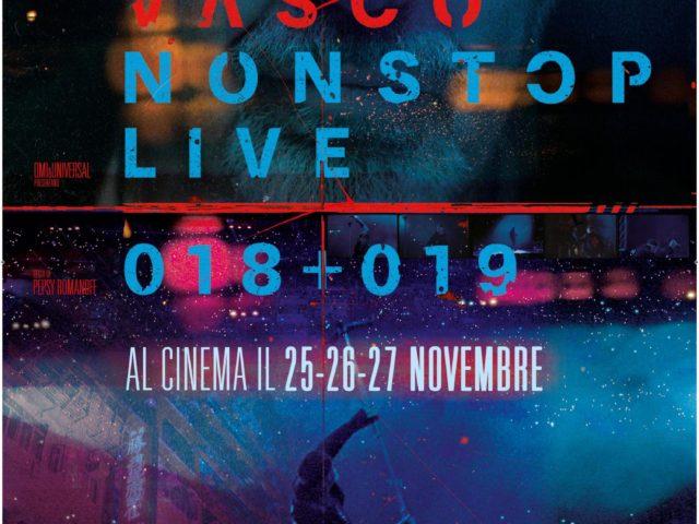 Vasco Non Stop Live 018+019 al cinema solo dal 25 al 27 novembre