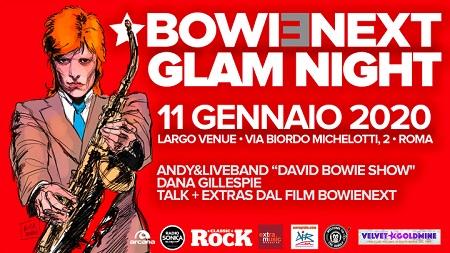 David Bowie Glam Night, l'11 gennaio a Roma con Andy e tanti artisti