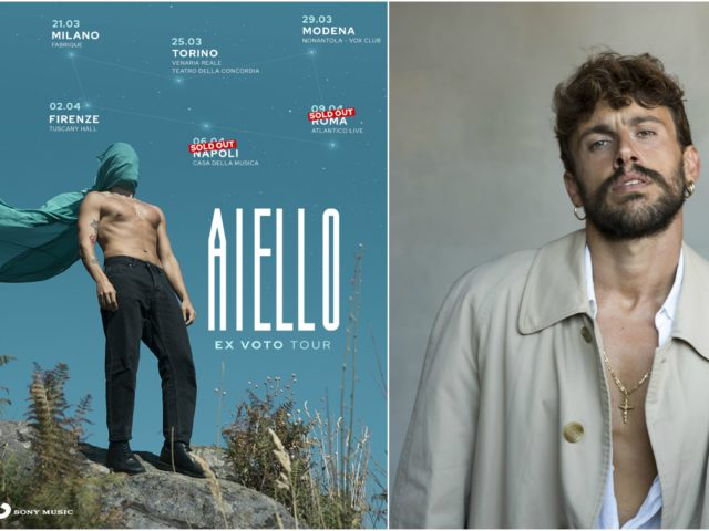 Triplo sold out per il tour di Aiello: annunciata un nuovo concerto che così diventa la data zero..