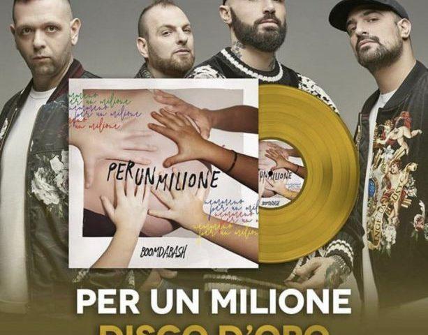 Boomdabash: Per Un Milione è disco d'oro