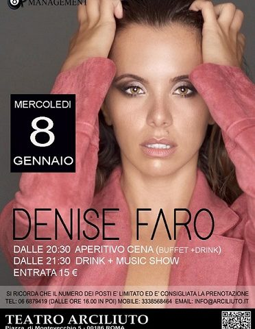 Denis Faro, l'8 gennaio live all'Arciliuto di Roma