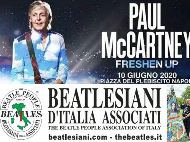 Paul McCartney in concerto a Piazza del Plebiscito il 10 Giugno ed intanto Napoli pensa a Largo Beatles..