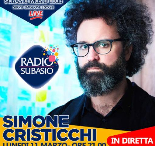 Simone Cristicchi ospite in diretta a Radio Subasio