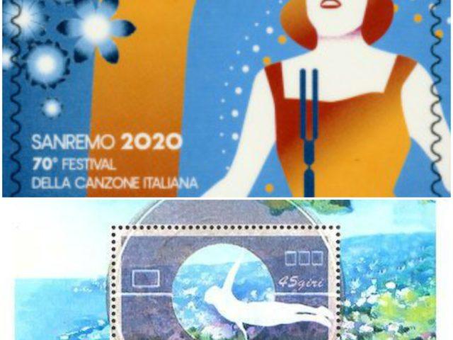 Oggi il Festival di Sanremo viene celebrato da un nuovo francobollo commemorativo