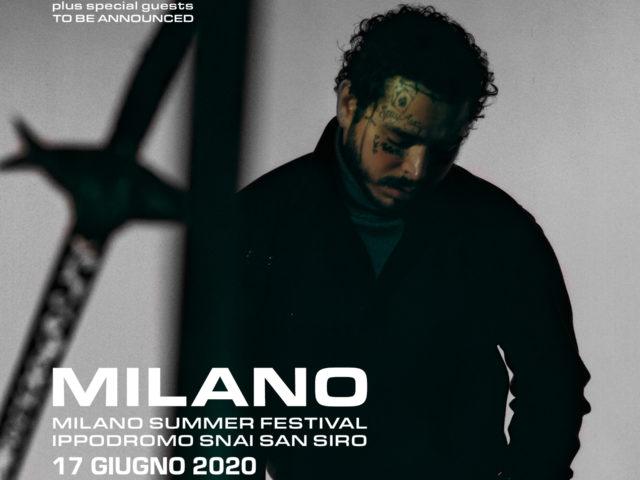 Post Malone – L'artista multi platino torna in Italia per un unico evento live mercoledì 17 giugno a Milano