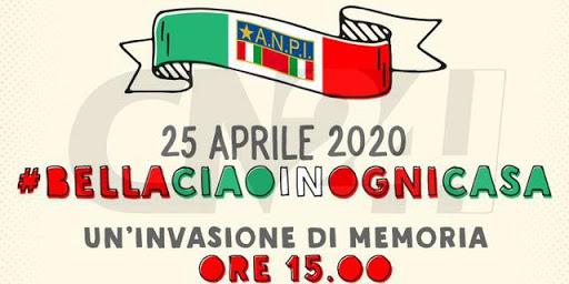25 Aprile 2020: cantare Bella Ciao, pensare all'Italia ed a questa pandemia..