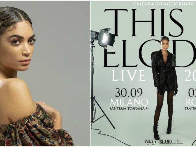 I concerti live di Elodie, riprogrammati per l'Autunno
