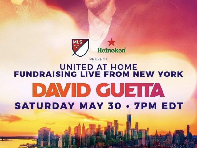 David Guetta continua la lotta al COVID-19 con un evento a New York
