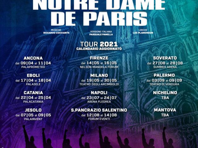 Notre Dame de Paris posticipata a partire da aprile 2021