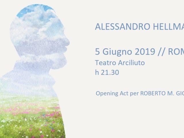 Alessandro Hellmann in apertura del concerto romano di Roberto M.Giordi