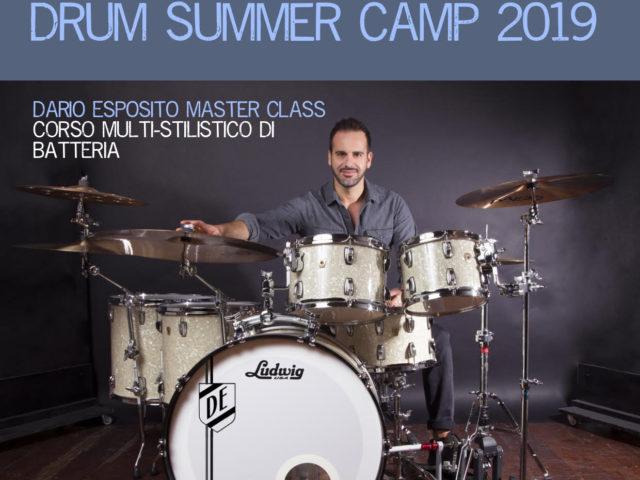 Drum Summer Camp 2019 con Dario Esposito dal 25 al 28 Luglio e dal 5 all'8 Agosto nelle Marche