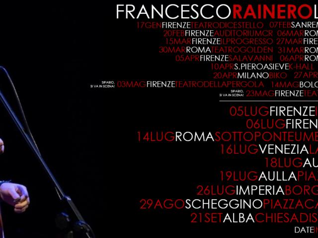 Francesco Rainero inizia il tour estivo, tra un addio al nubilato, danzando nel vento ed emozionando…