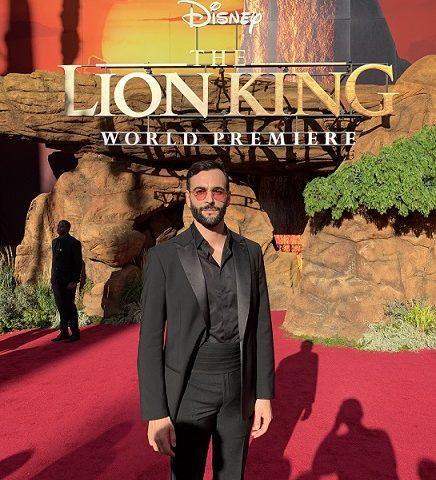 Marco Mengoni alla premiere de Il Re Leone