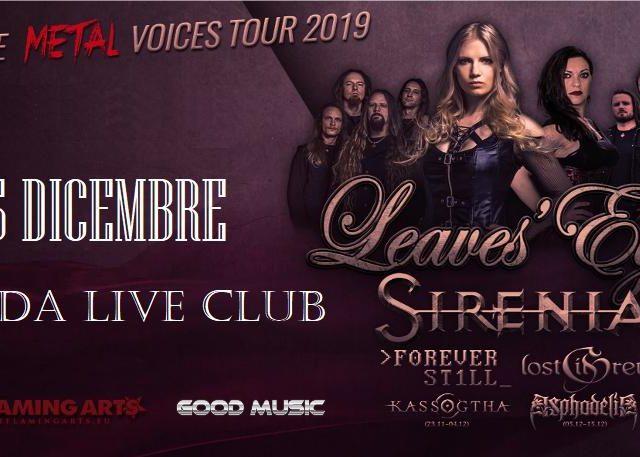 Il 15 Dicembre cinque band con frontwoman scatenate: è il Femal Metal Voices al pavese Dagda Live Club