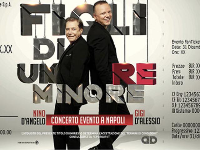 Figli di un re minore: da oggi all'Arena Flegrea di Napoli la coppia Nino D'Angelo e Gigi D'Alessio
