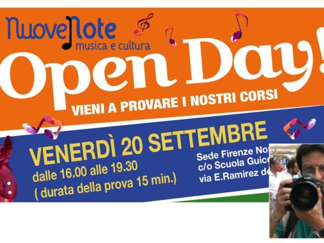 Venerdì 20 Settembre l'open day dell'associazione fiorentina Nuove Note