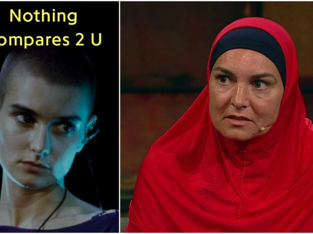 I said nothing can take away these blues, 'cause nothing compares: ricompare live Sinead O'Connor in hijab …
