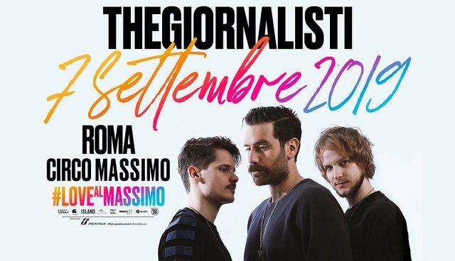 Thegiornalisti, il 7 settembre al Circo Massimo con Calcutta, Elisa, Luca Carboni