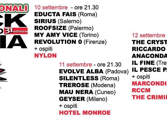 Rock Targato Italia e la finale della 31esima edizione, mentre per la prossima c'è la collaborazione con Radio Italia Anni 60