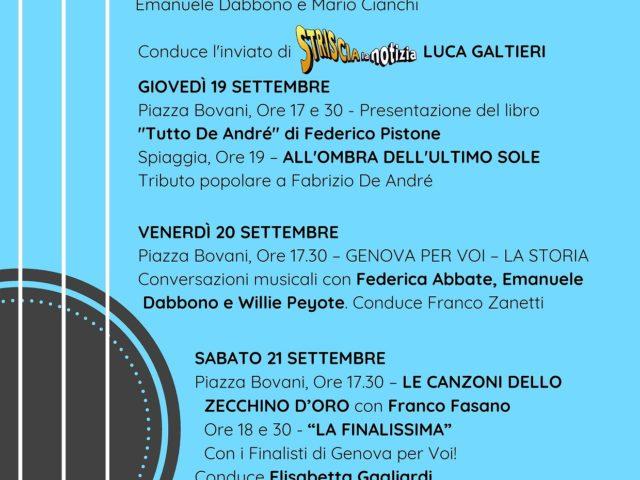 Genova Per Voi, dal 18 al 22 Settembre la settima edizione del talent per autori di canzoni