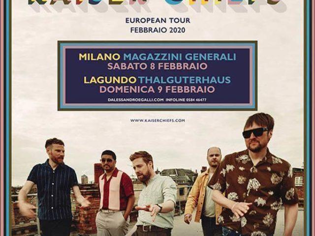 A Febbraio due concerti in Italia per i Kaiser Chiefs