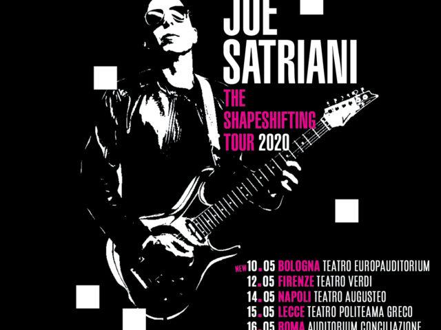 I 6 concerti italiani a Maggio 2020 di Joe Satriani