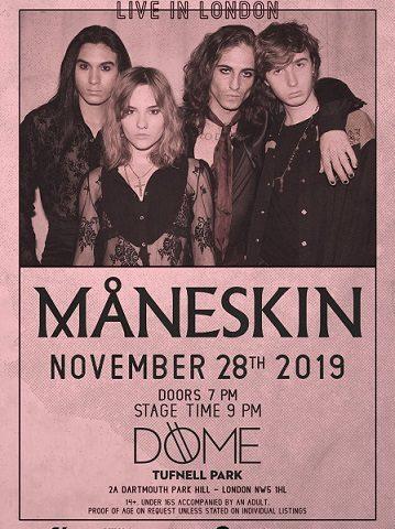 I Maneskin tornano live a Londra