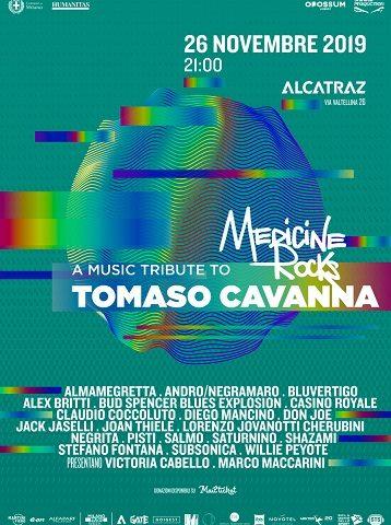 Medicine Rocks, il 26 novembre live tributo a Tomaso Cavanna