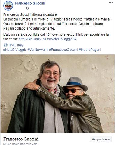 Francesco Guccini, la prima traccia del nuovo album è Natale a Pavana
