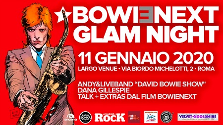 David Bowie Glam Night, l'11 gennaio a Roma con Andy e tanti artisti
