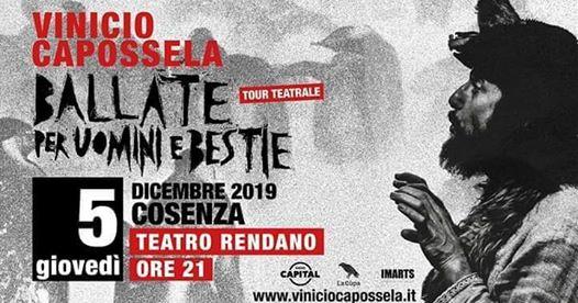 Vinicio Capossela a Cosenza e Sergio Cammariere a Lamezia chiudono Fatti di Musica 2019
