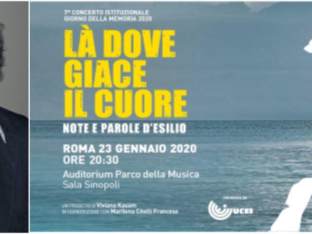 Concerto per il Giorno della Memoria: il 23 Gennaio 2020 a Roma evento con Cristina Zavalloni, Raiz, Manuela Kustermann, Alessandro Haber ..