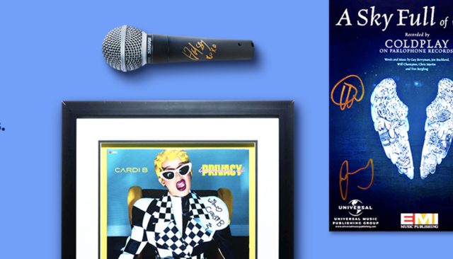Un sacco di memorabilia dei protagonisti coinvolti nei Grammy Awards 2020 all'asta su eBay per beneficenza