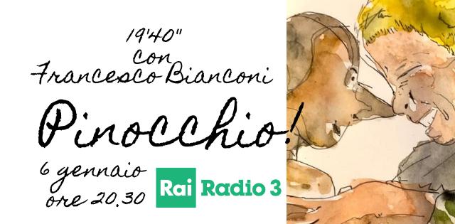 Francesco Bianconi legge Pinocchio su Radio 3 Rai