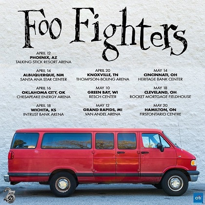 Foo Fighters in tour per i 25 anni di carriera