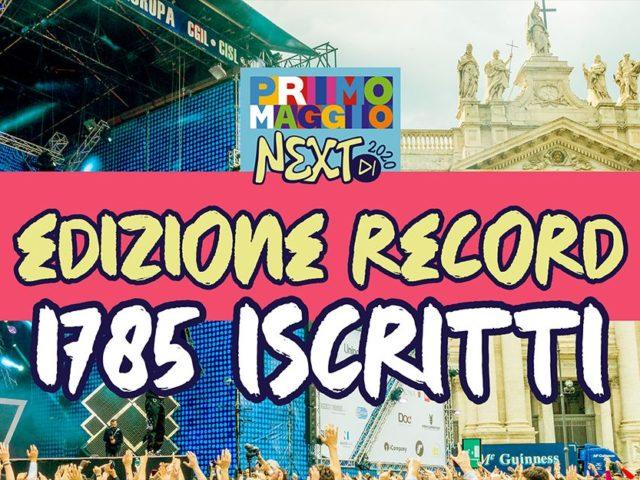 Primo Maggio NEXT (il contest dedicato ai nuovi artisti) nella sua fase iniziale registra il record di iscrizioni con ben 1785 progetti candidati!