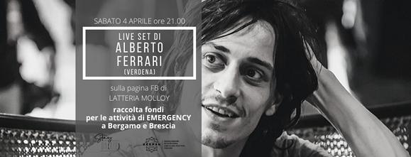 Alberto Ferrari, sabato 4 aprile live su Facebook per #StayON