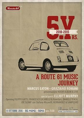 Ermanno Labianca: Route 61 Music, in viaggio con la musica da cinque anni