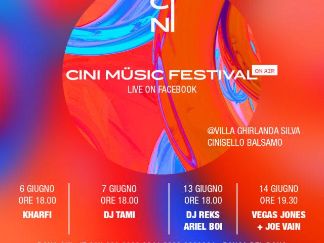 Dal 6 al 14 Giugno il CMF Cini Music Festival su Facebook all'insegna dei dj set