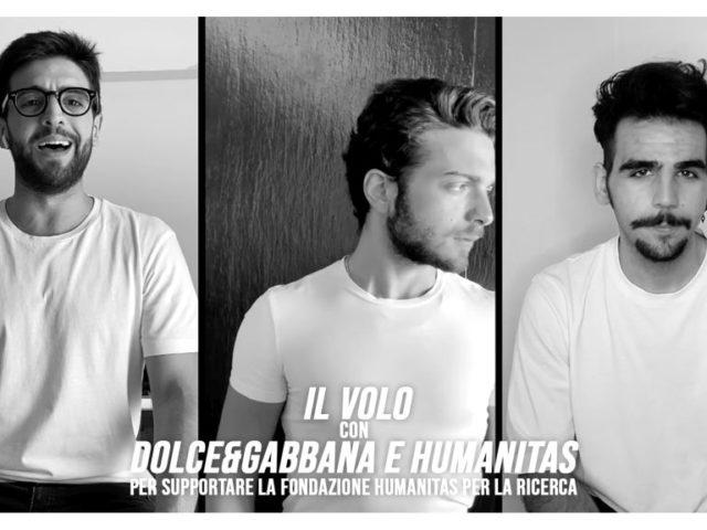 Il Volo con Dolce&Gabbana per Humanitas
