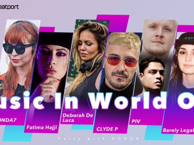 Martedì 12 Maggio su Beatport l'house party #MusicInWorldOut, livestreaming con 6 DJ di fama internazionale