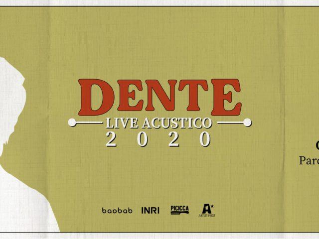 Due concerti acustici per Dente, tanto per ricominciare …